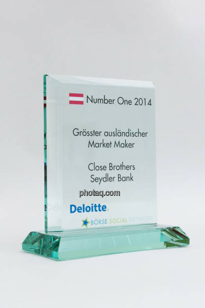 Grösster ausländischer Market Maker: Close Brothers Seydler Bank, © photaq/Martina Draper (03.02.2015)