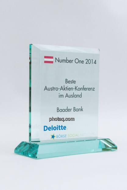 Beste Austro-Aktien-Konferenz im Ausland: Baader Bank, © photaq/Martina Draper (03.02.2015)