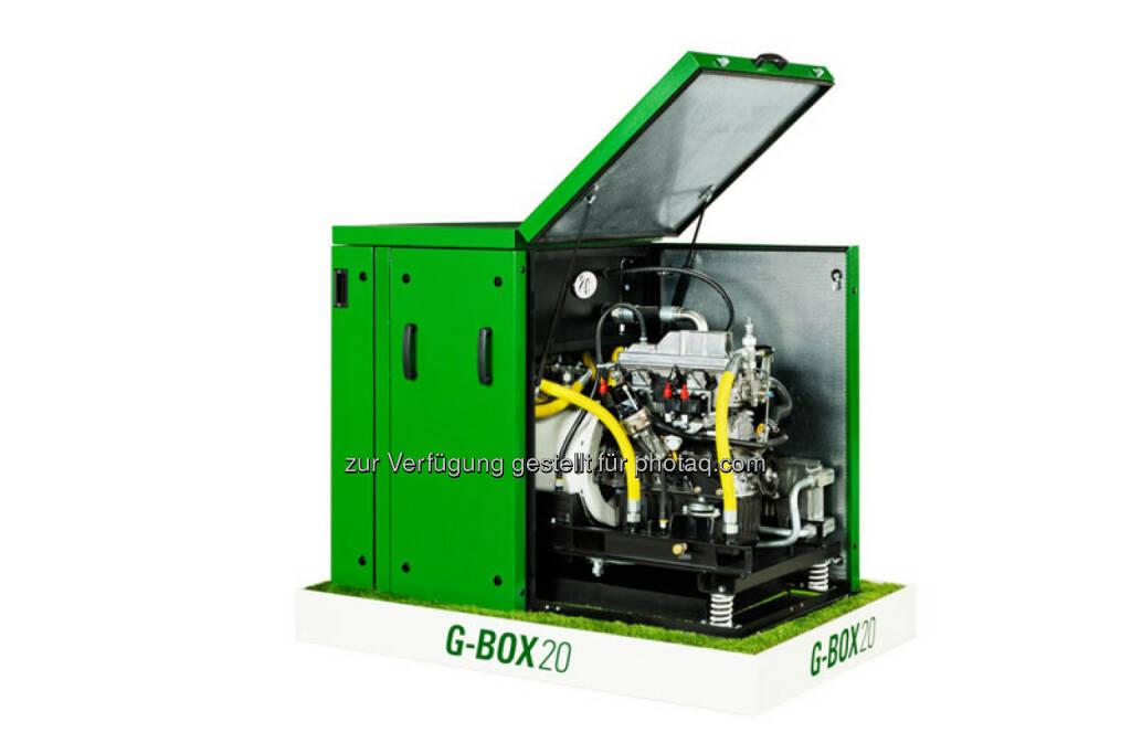RWE: Die Kraft-Wärme-Kopplungs-Anlagen (KWK-Anlagen) g-box 20 und g-box 50 des Herstellers 2G können künftig mit der Steuerung easyOptimize von RWE Effizienz betrieben werden. Ziel der Kooperation ist es, mehr Wirtschaftlichkeit für den Anlagenbetrieb zu erzielen. , © Aussendung (04.02.2015)