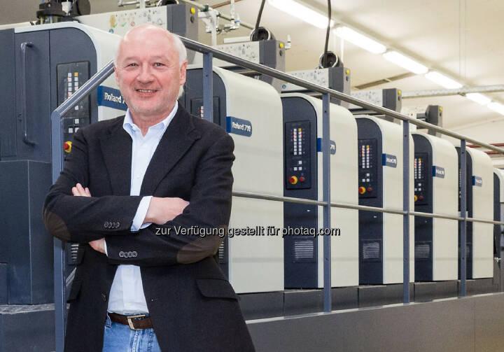 """Gerhard Aichhorn, Eigentümer und Geschäftsführer von Samson Druck: """"Wir wollen unseren hohen Qualitätsstandard durch die Investition in neue Technologien weiter ausbauen."""""""