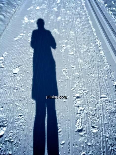 Schatten, Loipe, Schnee (04.02.2015)