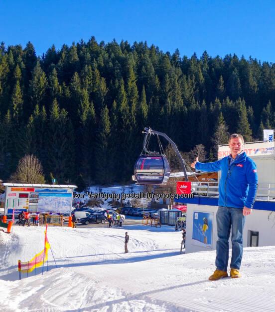 Klaus Exenberger - Geschäftsführer der Bergbahnen in Ellmau: SkiWelt Wilder Kaiser-Brixental Marketing GmbH: 23 Mio & 960 Tonnen Stahl für die neue Hartkaiserbahn in der SkiWelt Ellmau, © Aussender (05.02.2015)