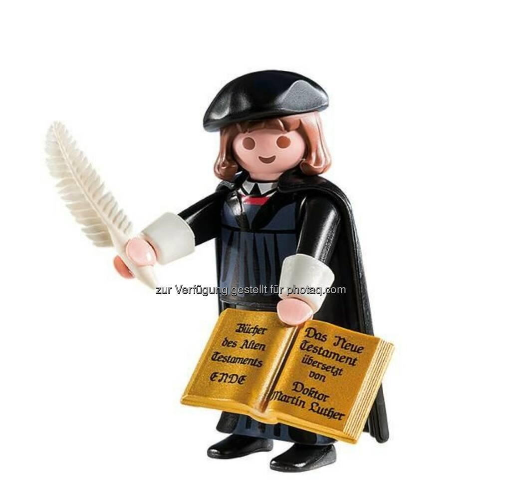 Die Congress- und Tourismus-Zentrale Nürnberg hat zusammen mit der Deutschen Zentrale für Tourismus DZT und Playmobil einen Reformations-Botschafter entwickelt: Martin Luther als Spielfigur, © Aussendung (06.02.2015)