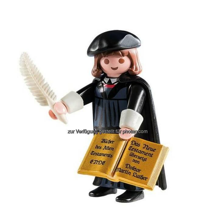 Die Congress- und Tourismus-Zentrale Nürnberg hat zusammen mit der Deutschen Zentrale für Tourismus DZT und Playmobil einen Reformations-Botschafter entwickelt: Martin Luther als Spielfigur