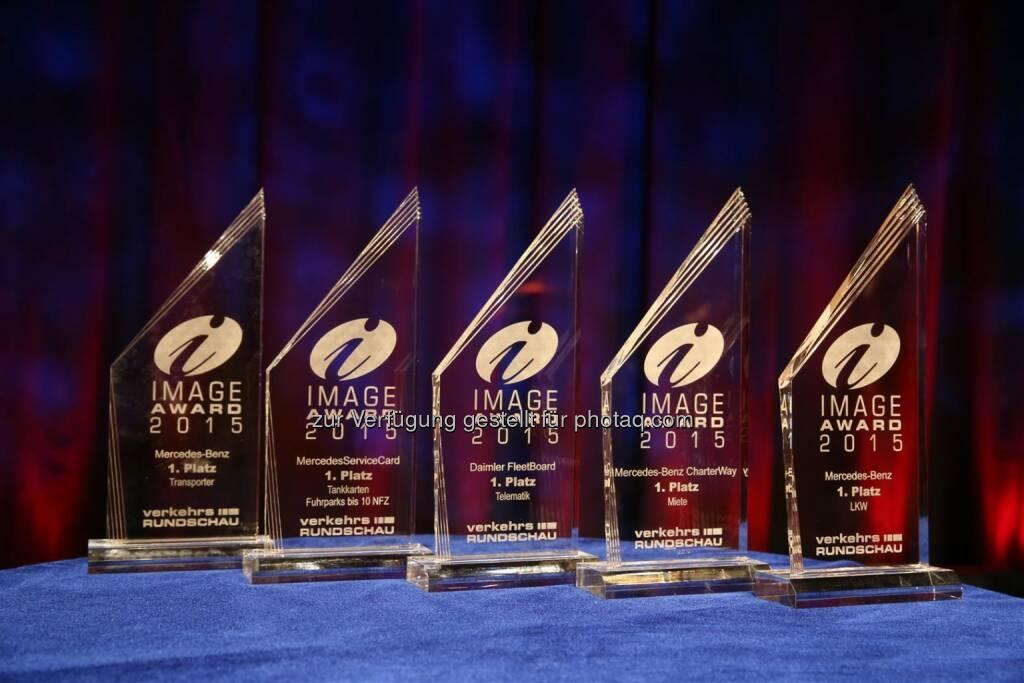 Daimler Nutzfahrzeugmarken gewinnen in fünf Kategorien beim Image Award 2015 der VerkehrsRundschau, © Aussendung (06.02.2015)