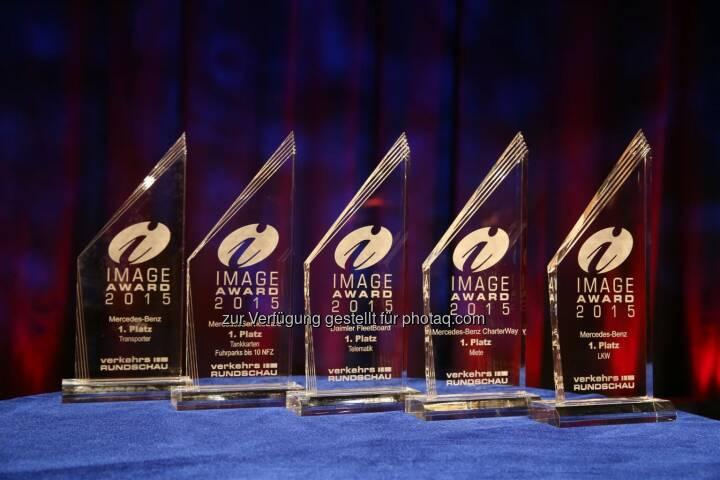 Daimler Nutzfahrzeugmarken gewinnen in fünf Kategorien beim Image Award 2015 der VerkehrsRundschau