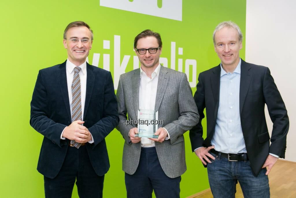Josef Schuch, Deloitte, Andreas Kern, wikifolio, Christian Drastil, © photaq/Martina Draper (10.02.2015)