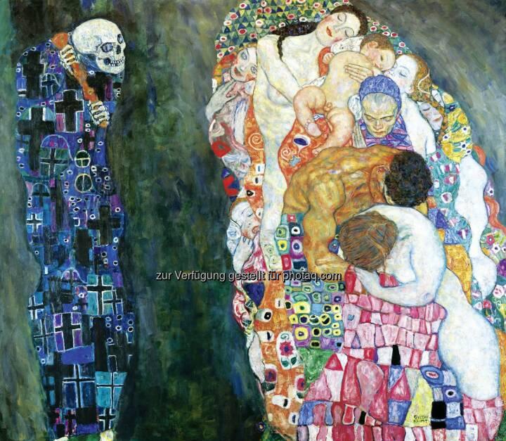 """Gustav Klimt (1862-1918), Tod und Leben, 1910/11, umgearbeitet 1915/16, : Leopold Museum im MQ: 1 Ticket für 2 Museen """"Wien 1900""""-Highlights in MAK und Leopold Museum"""