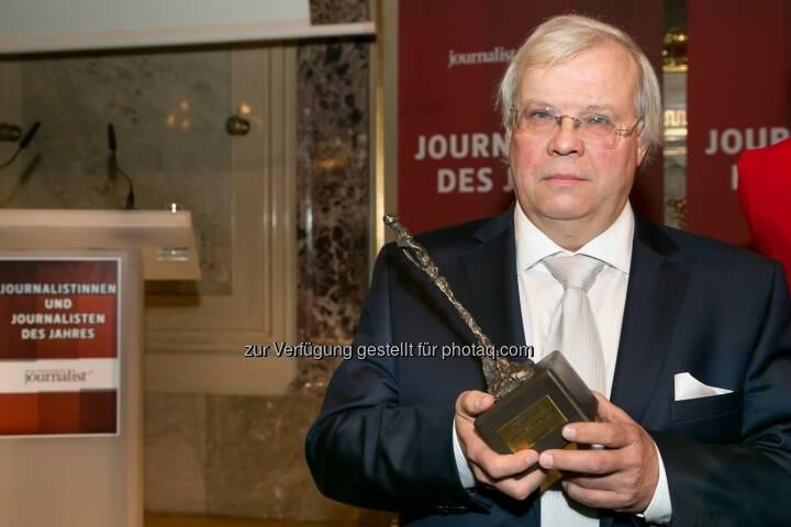 """Christian Wehrschütz (Journalist des Jahres 2014): Medienfachverlag Oberauer: Feier der """"Journalisten des Jahres"""""""