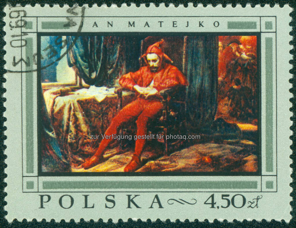 Hofnarr, Narr, Fasching, Clown, Polen, Karneval, Briefmarke, <a href=http://www.shutterstock.com/gallery-560521p1.html?cr=00&pl=edit-00>YANGCHAO</a> / <a href=http://www.shutterstock.com/editorial?cr=00&pl=edit-00>Shutterstock.com</a>, YANGCHAO / Shutterstock.com (17.02.2015)