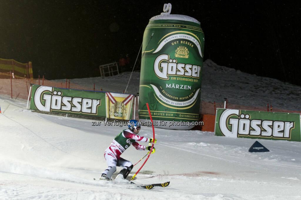 Brau Union Österreich AG: Doppelt spannend: Skiweltcup in Saalbach mit Gösser. Bei Abfahrt und Super G in Saalbach-Hinterglemm hoffen die Österreicher wieder auf Medaillen - der langjährige Sponsor Gösser unterstützt die Veranstaltung., © Aussendung (18.02.2015)