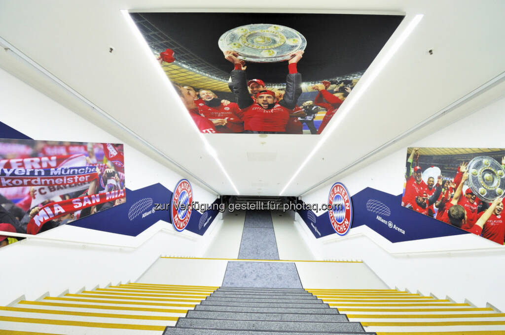 Allianz Arena, Stiege, Stufen, Stadion, FC Bayern München, Fussball, <a href=http://www.shutterstock.com/gallery-1706938p1.html?cr=00&pl=edit-00>Yuri Turkov</a> / <a href=http://www.shutterstock.com/editorial?cr=00&pl=edit-00>Shutterstock.com</a>, Yuri Turkov / Shutterstock.com, © www.shutterstock.com (18.02.2015)
