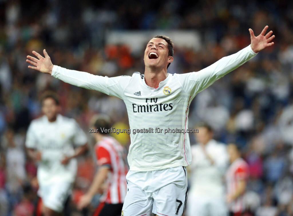 Cristiano Ronaldo, Real Madrid, Freude, yes, Gewinn, Jubel, <a href=http://www.shutterstock.com/gallery-1390159p1.html?cr=00&pl=edit-00>Marcos Mesa Sam Wordley</a> / <a href=http://www.shutterstock.com/editorial?cr=00&pl=edit-00>Shutterstock.com</a>, Marcos Mesa Sam Wordley / Shutterstock.com, © www.shutterstock.com (18.02.2015)