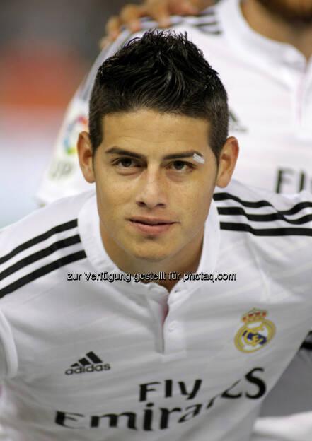 James Rodriguez, Real Madrid, Fussball, <a href=http://www.shutterstock.com/gallery-224068p1.html?cr=00&pl=edit-00>Maxisport</a> / <a href=http://www.shutterstock.com/editorial?cr=00&pl=edit-00>Shutterstock.com</a>, Maxisport / Shutterstock.com, © www.shutterstock.com (18.02.2015)