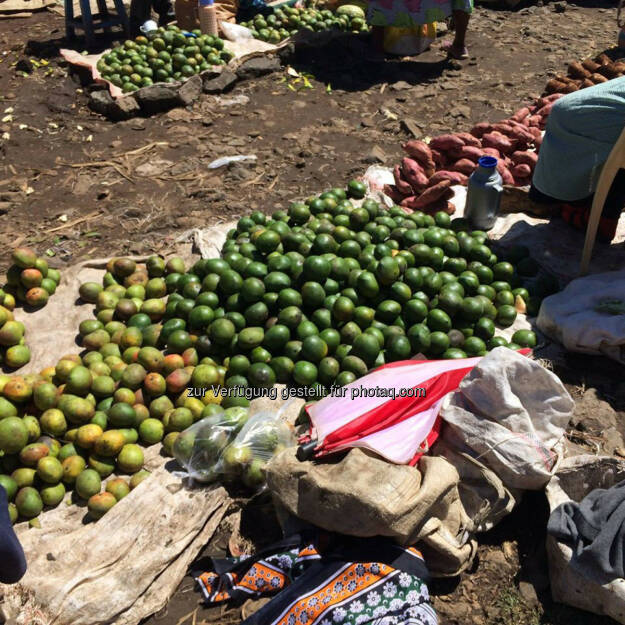 Kenia, Markt, Mangos, Limetten, © Thomas Kratky (20.02.2015)