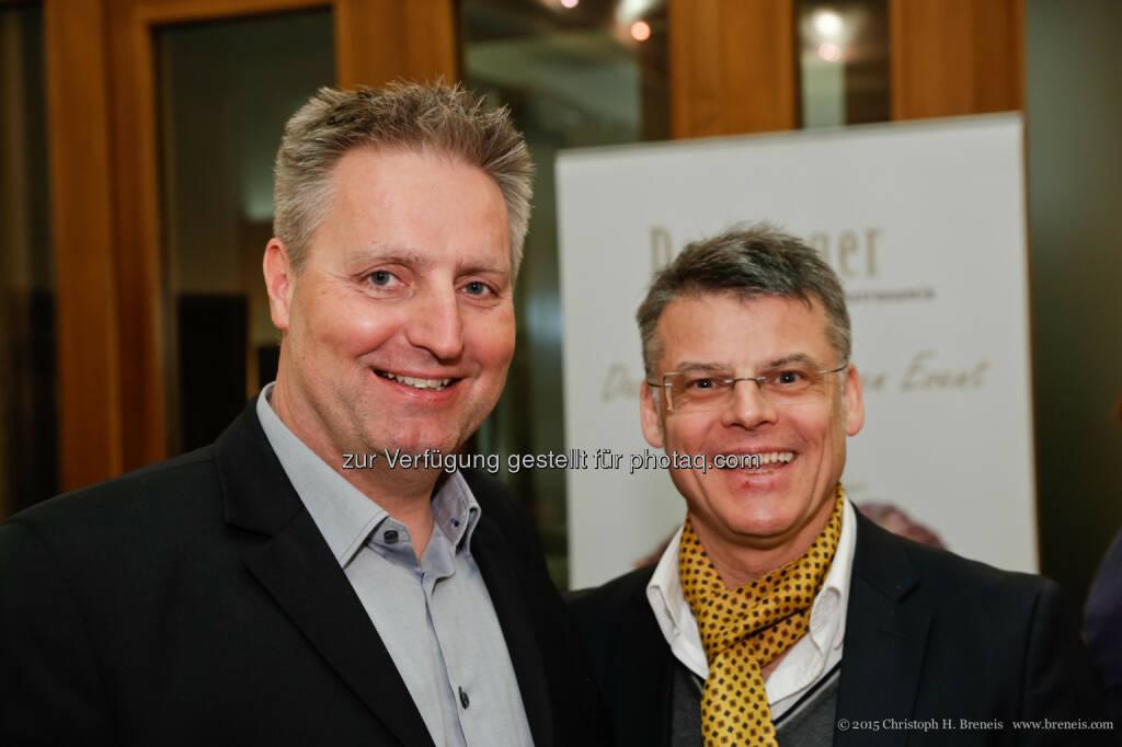 Peter Buchauer, Manfred della Schiava: Der Song Contest schon jetzt ein Besuchermagnet – volles Haus bei der ÖMG-Business lounge, © Österreichische Marketing-Gesellschaft (20.02.2015)