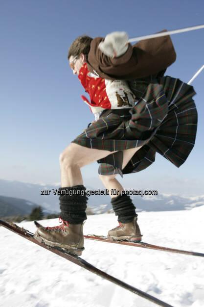 Turracher Höhe Marketing GmbH: Kilt-Skilauf mit Franz Klammer und Hauben-Kulinarik auf höchstem Niveau, © Aussender (24.02.2015)