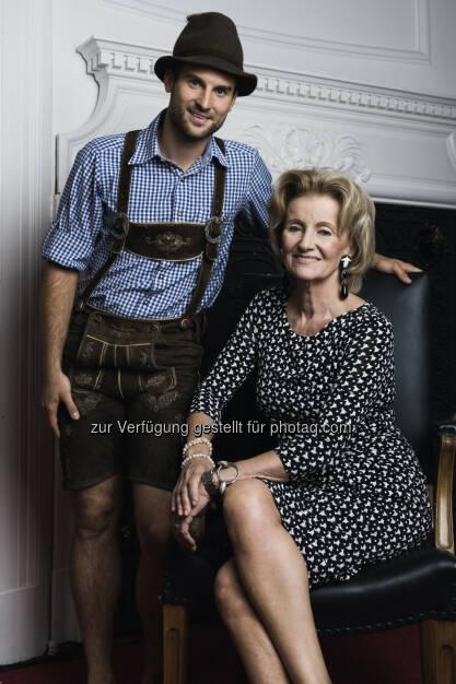 Elisabeth Gürtler mit Markus Ahrens (C) Manuel Tauber-Romieri, © Puls 4 (24.02.2015)
