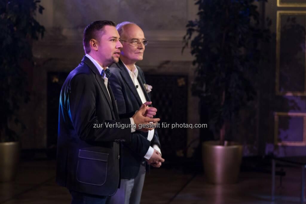 Hans Staud will, dass Gerhard Gradinger sein Diät-Fast-Food-Resaturant verwirklicht (C) Manuel Tauber-Romieri, © Puls 4 (24.02.2015)