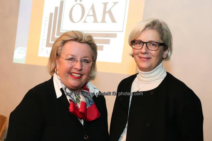 Sibylle Callagy (Präsidentin ÖAK), Friederike Müller-Wernhart (CEO Mindshare): Österreichische Auflagenkontrolle: Erstmalige Ausweisung von ePaper in der ÖAK