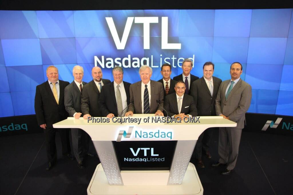 Vital Therapies, Inc. Rings the Nasdaq Closing Bell! $VTL  Source: http://facebook.com/NASDAQ (25.02.2015)