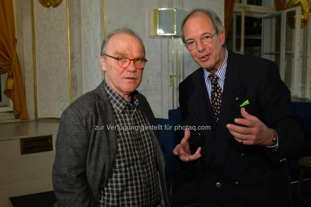 Schriftsteller Michael Köhlmeier, Schauspieler Freddy Schwardtmann, © leisure.at/Oreste Schaller (25.02.2015)