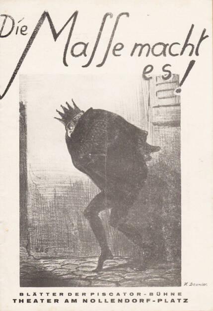 Blätter der Piscatorbühne - Die Masse macht es, Bepa-Verlag 1928, Cover - http://josefchladek.com/book/blatter_der_piscatorbuhne_-_die_masse_macht_es, © (c) josefchladek.com (26.02.2015)