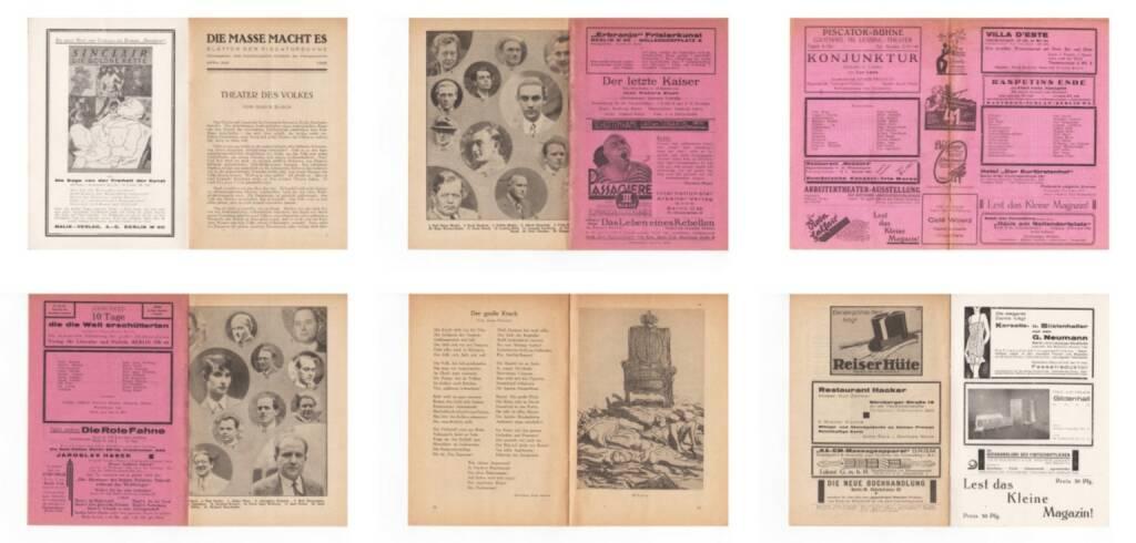 Blätter der Piscatorbühne - Die Masse macht es, Bepa-Verlag 1928, Beispielseiten, sample spreads - http://josefchladek.com/book/blatter_der_piscatorbuhne_-_die_masse_macht_es, © (c) josefchladek.com (26.02.2015)