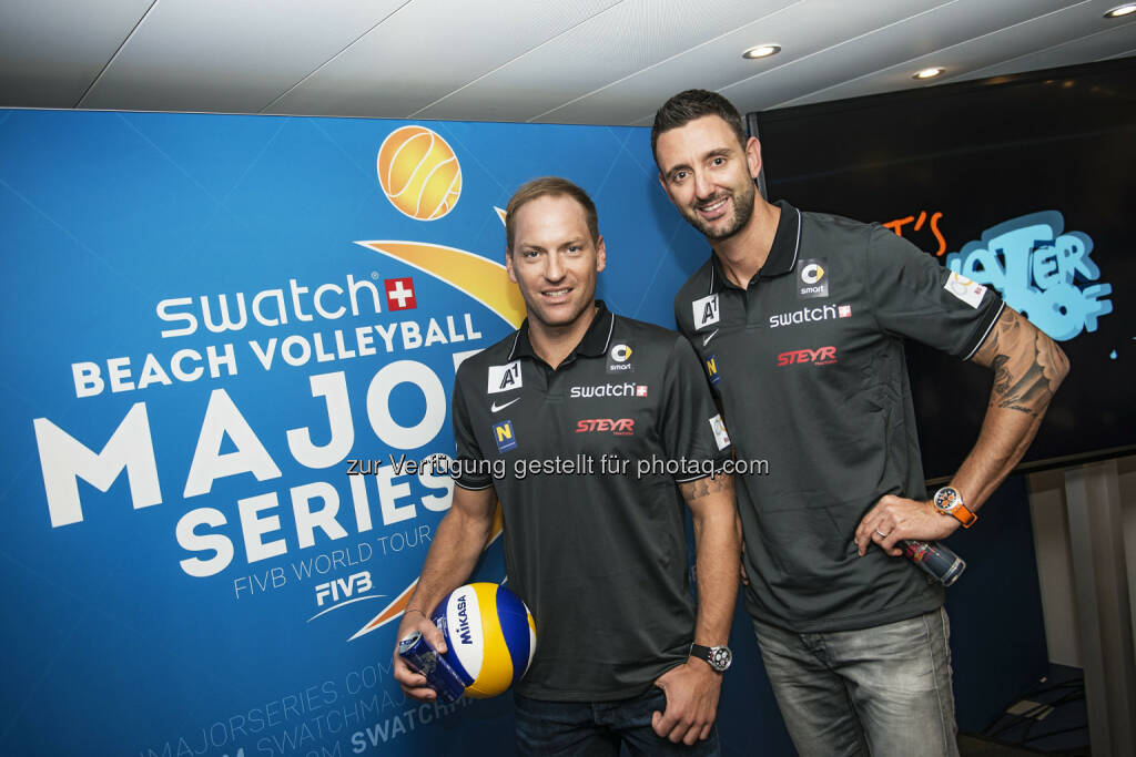 Alex Horst and Clemens Doppler: Swatch Beach Volleyball Major Series: Beach Volleyball setzt für globale Expansion auf neue Partner, © Aussendung (26.02.2015)
