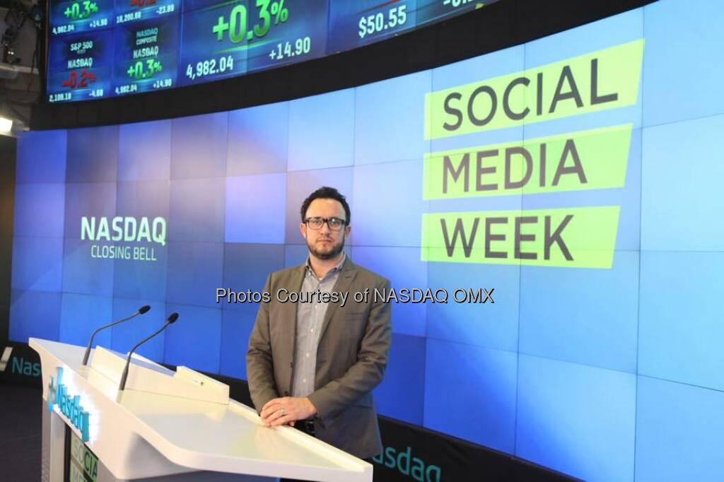 Social Media Week rang the Nasdaq Closing Bell! #SMWNYC  Source: http://facebook.com/NASDAQ (27.02.2015)