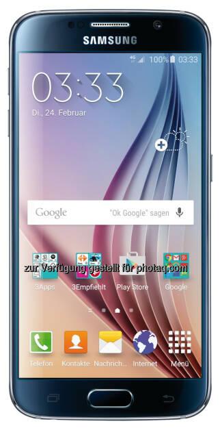 Hutchison Drei Austria Gmbh: Neue Samsung Galaxy S6 Flaggschiffe bei Drei, © Aussendung (02.03.2015)