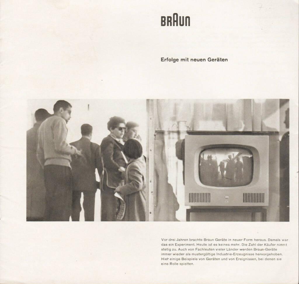 Braun - Erfolge mit neuen Geräten, Max Braun 1958, Cover - http://josefchladek.com/book/braun_-_erfolge_mit_neuen_geraten, © (c) josefchladek.com (04.03.2015)