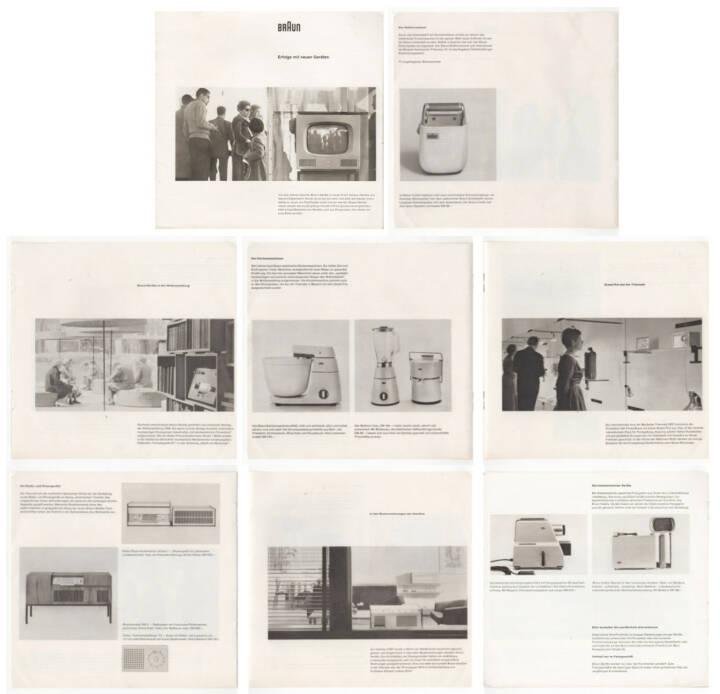Braun - Erfolge mit neuen Geräten, Max Braun 1958, Beispielseiten, sample spreads - http://josefchladek.com/book/braun_-_erfolge_mit_neuen_geraten