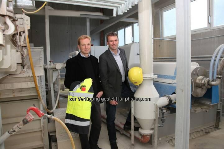 Geschäftsführer der Baumit Bad Ischl GmbH, Stephan Giesbergenund Wilhelm Struber: Baumit: Umweltinvestition spart jährlich 80 Millionen Liter Trinkwasser