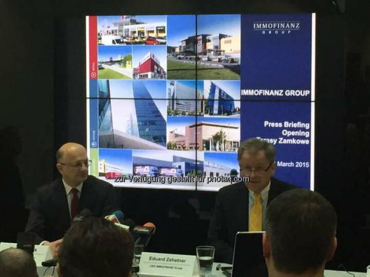 #IMMOFINANZ Opening of our Tarasy Zamkowe Shopping Center in Lublin, our CEO Zehetner and Lublin's Major Zuk http://twitter.com/bettinaschragl/status/573043165411876865/photo/1  Source: http://twitter.com/bettinaschragl