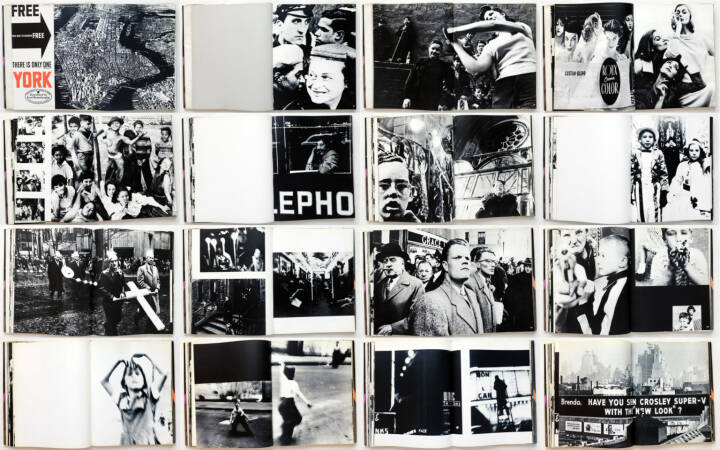William Klein - Life Is Good and Good For You In New York: Trance Witness Revels, Giangiacomo Feltrinelli Editore 1956, Beispielseiten, sample spreads - http://josefchladek.com/book/william_klein_-_life_is_good_and_good_for_you_in_new_york_trance_witness_revels