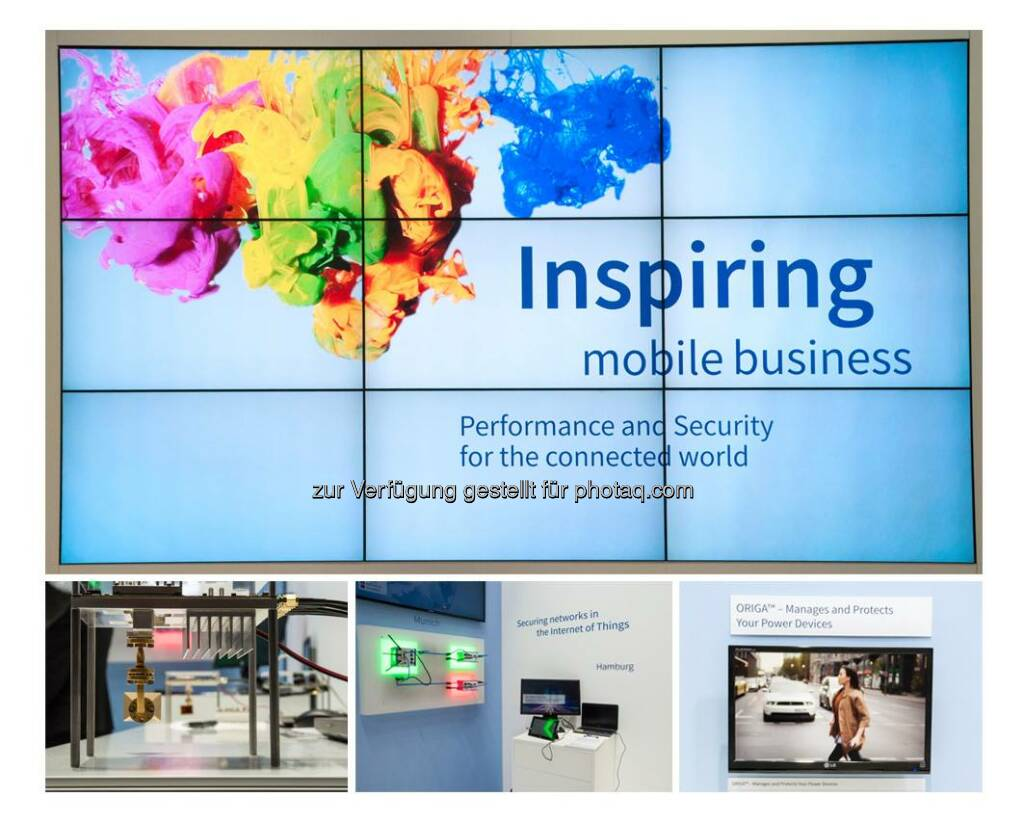 Visit us on our booth at Mobile World Congress 2015 in Barcelona, Hall 6/6B62. We are looking forward to seeing you here!  www.infineon.de/mwc  Source: http://facebook.com/Infineon, © Aussender (04.03.2015)