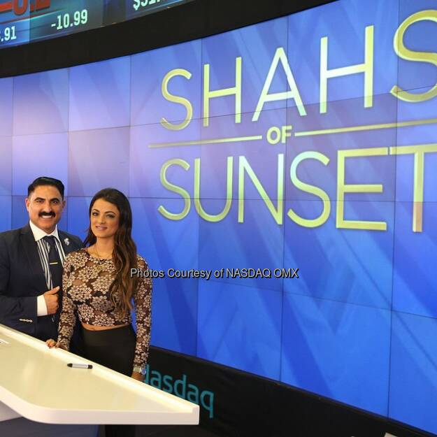 Getting ready for The #Shahs of Sunset to ring the @Nasdaq Closing Bell! @RezaFarahan @GolnesaGG @bravotv  Source: http://facebook.com/NASDAQ (05.03.2015)