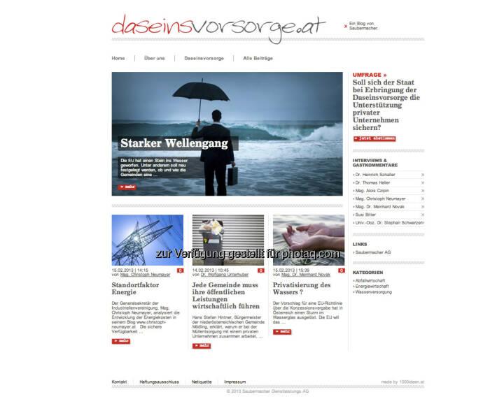 http://www.daseinsvorsorge.at - Unterhuber, Saubermacher, gut so - mehr unter http://www.christian-drastil.com/2013/02/16/ex-wirtschaftsblatt-vorstand-unterhuber-launcht-mit-saubermacher-www-daseinsvorsorge-at/