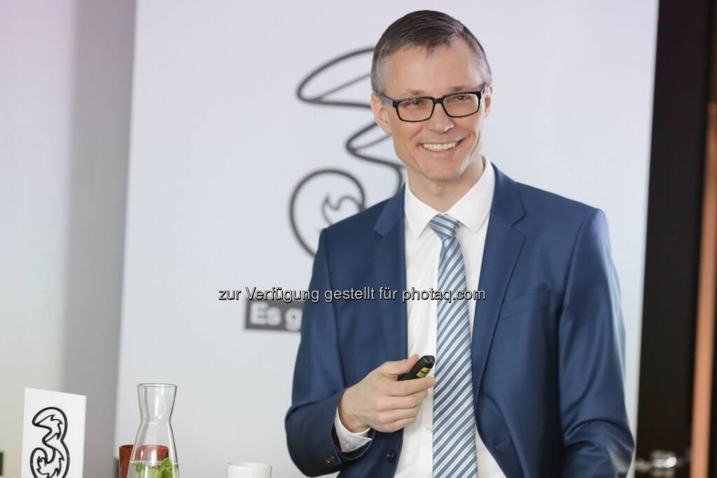 Jan Trionow, CEO der Hutchison Drei Austria GmbH: Drei wächst 2014 weiter und übernimmt Poleposition bei LTE, © Aussendung (05.03.2015)