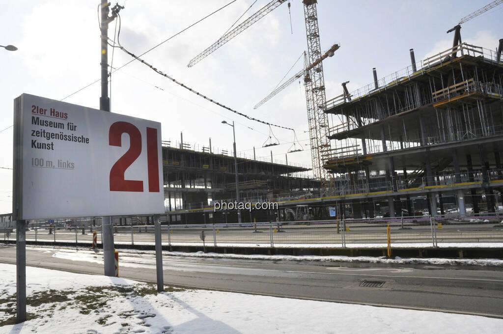 21er Haus Plakat, Zentralbahnhof Grossbaustelle (17.02.2013)