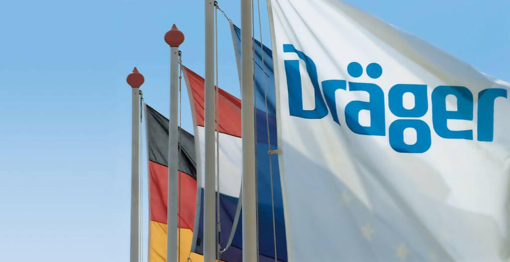 Drägerwerk, Dräger, Fahnen, © Dräger (Homepage) (08.03.2015)