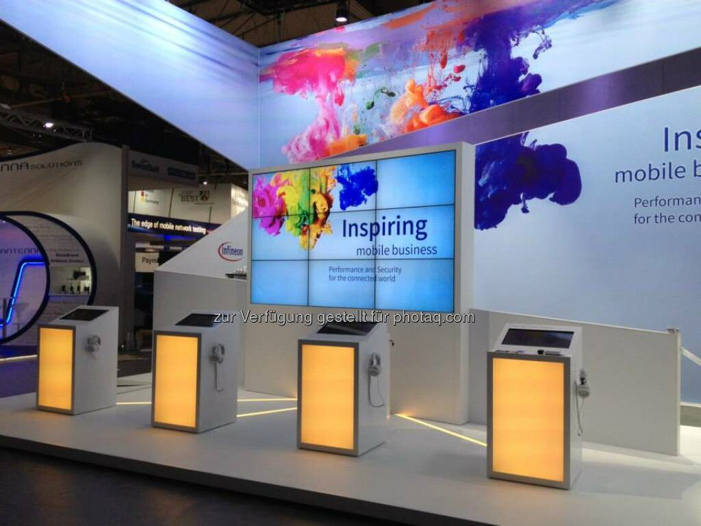 Infineon - have you visited our booth on #MWC15 in Barcelona? Here are some images:  https://www.facebook.com/media/set/?set=a.798806953535421.1073741912.345383962211058&type=3 Inspiring Mobile Business - Performance and Security for the connected world. #mwc15 Hall 6, Booth 6B62 Read more: http://www.infineon.com/mwc Source: http://facebook.com/Infineon (10.03.2015)