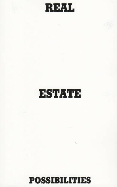 Pascal Anders - Real Estate Possibilities, Self published 2014, Cover - http://josefchladek.com/book/pascal_anders_-_real_estate_possibilities, © (c) josefchladek.com (11.03.2015)