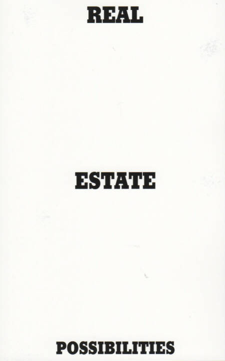 Pascal Anders - Real Estate Possibilities, Self published 2014, Cover - http://josefchladek.com/book/pascal_anders_-_real_estate_possibilities