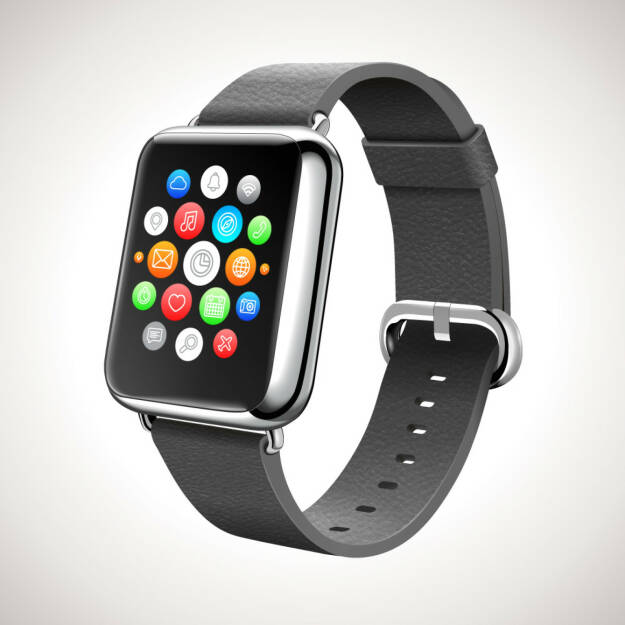 Apple Watch look-alike, Smart Watch Concept Vector Realistic Illustration, http://www.shutterstock.com/de/pic-227607688/stock-vector-smart-watch-concept-vector-realistic-illustration.html, © www.shutterstock.com (11.03.2015)