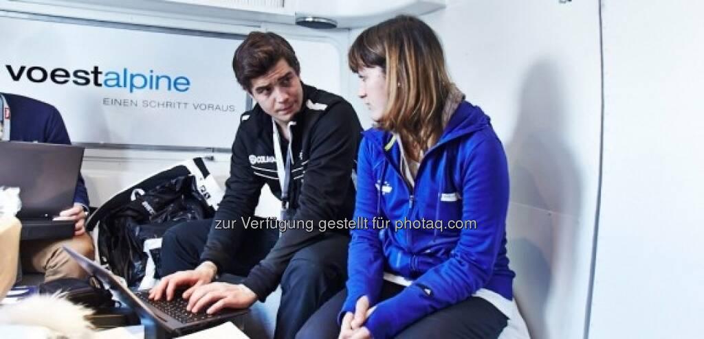 Markus Kerschbamer und Johanna Holzer sagen Tschüss und Auf Wiedersehen, Schladming!- http://voestalpine-wm-blog.at/2013/02/17/uuuuups/#.USD3kI7aK_Q, &copy; <a href=