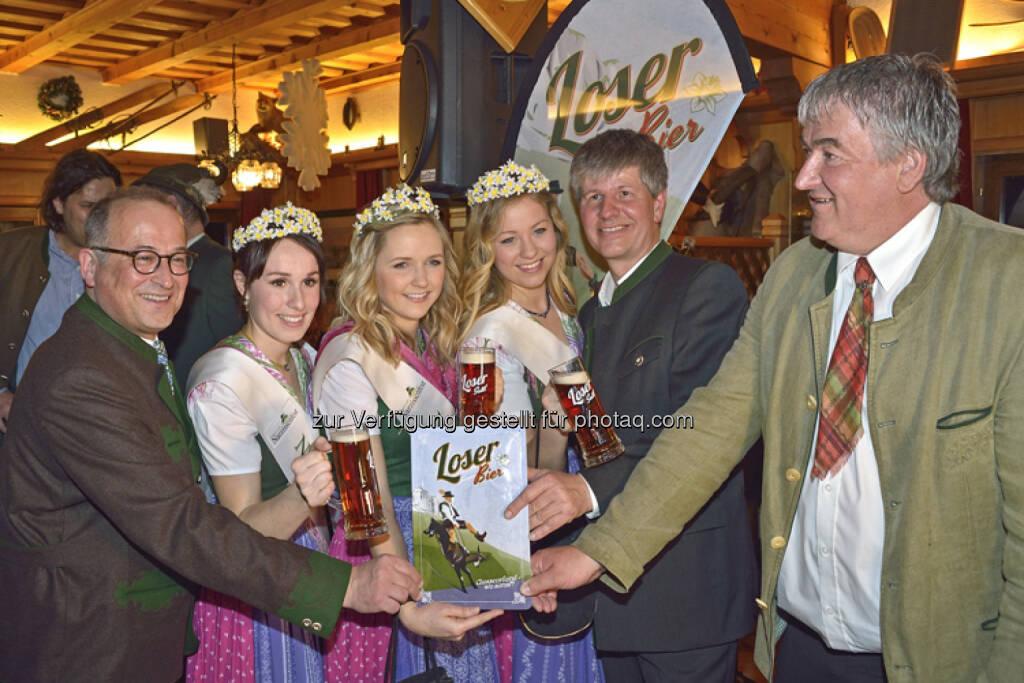Marcus Mautner Markhof, Narzissen Hoheiten, Helmut König: Loser Bergbahnen GmbH & Co KG: Der neue Genuss im Ausseerland - Das Loser Bier, © Aussender (17.03.2015)