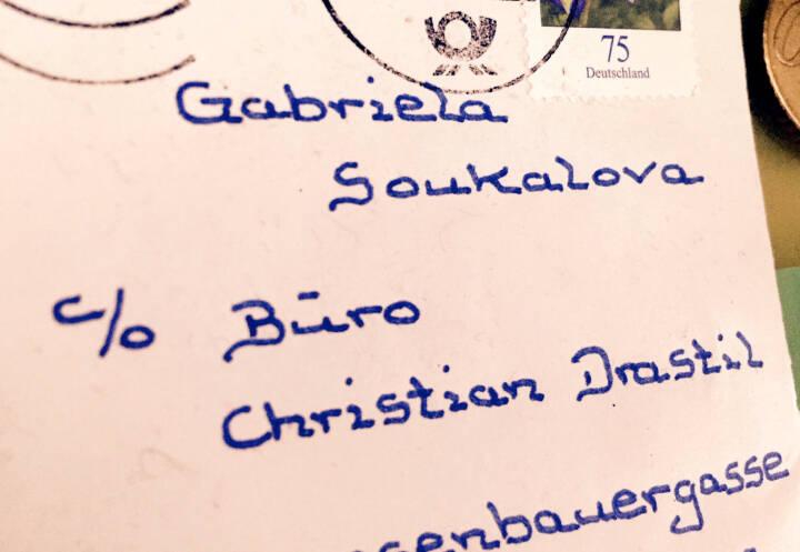 Gabriela Soukalova c / o Christian Drastil? Stimmt nicht ganz, aber witzige Post an einen Biathlonfan