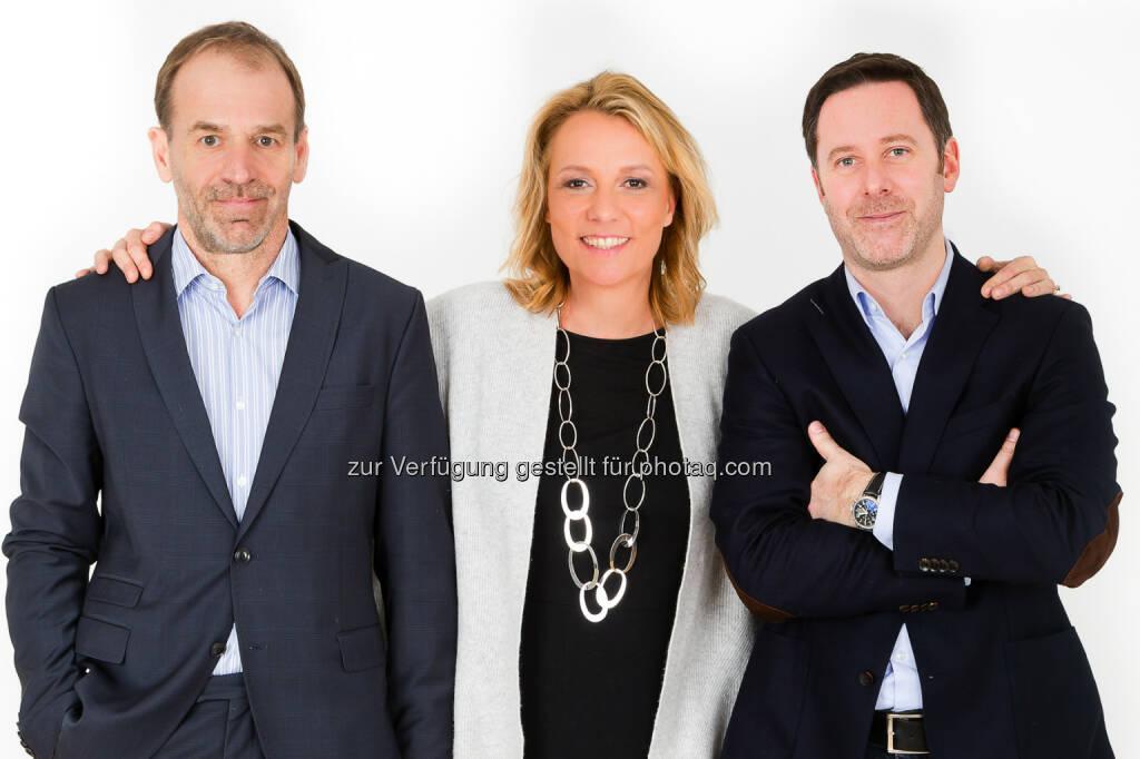 Arno Huber, Tina Zembacher und Georg Gradinger: gorelate GmbH: Neues CRM-Unternehmen für den Dach-Raum gegründet, © Aussender (18.03.2015)